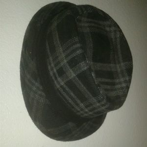 Black pattern fedora
